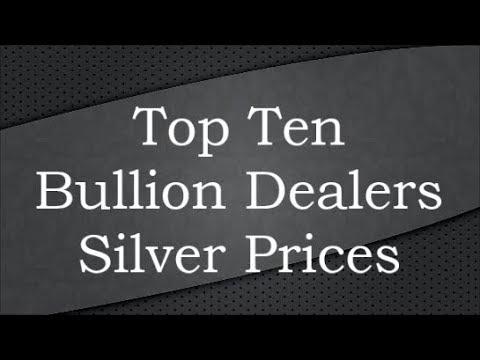 Top Ten Bullion Dealers Silver Prices 30 Jul 2017
