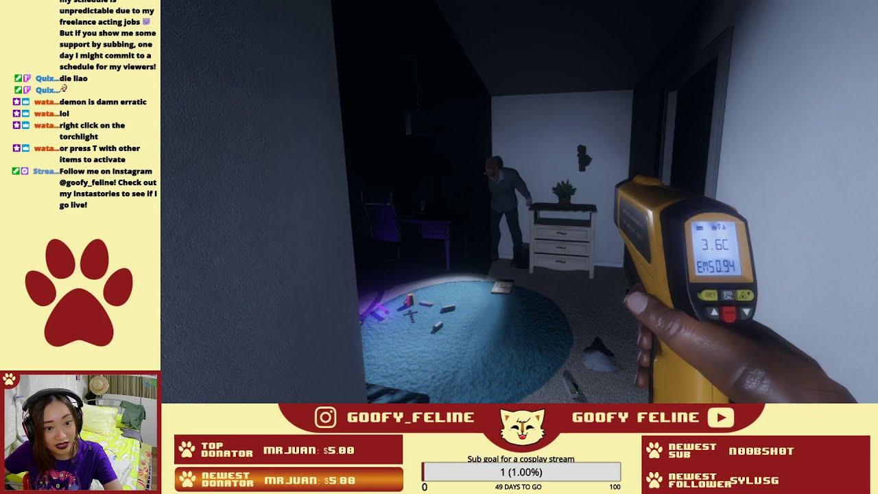 GoofyGaming: Phasmophobia   My first ghost sighting and it was not fun
