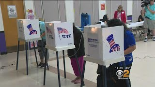 Voters Get Out To The Polls For Primary Election