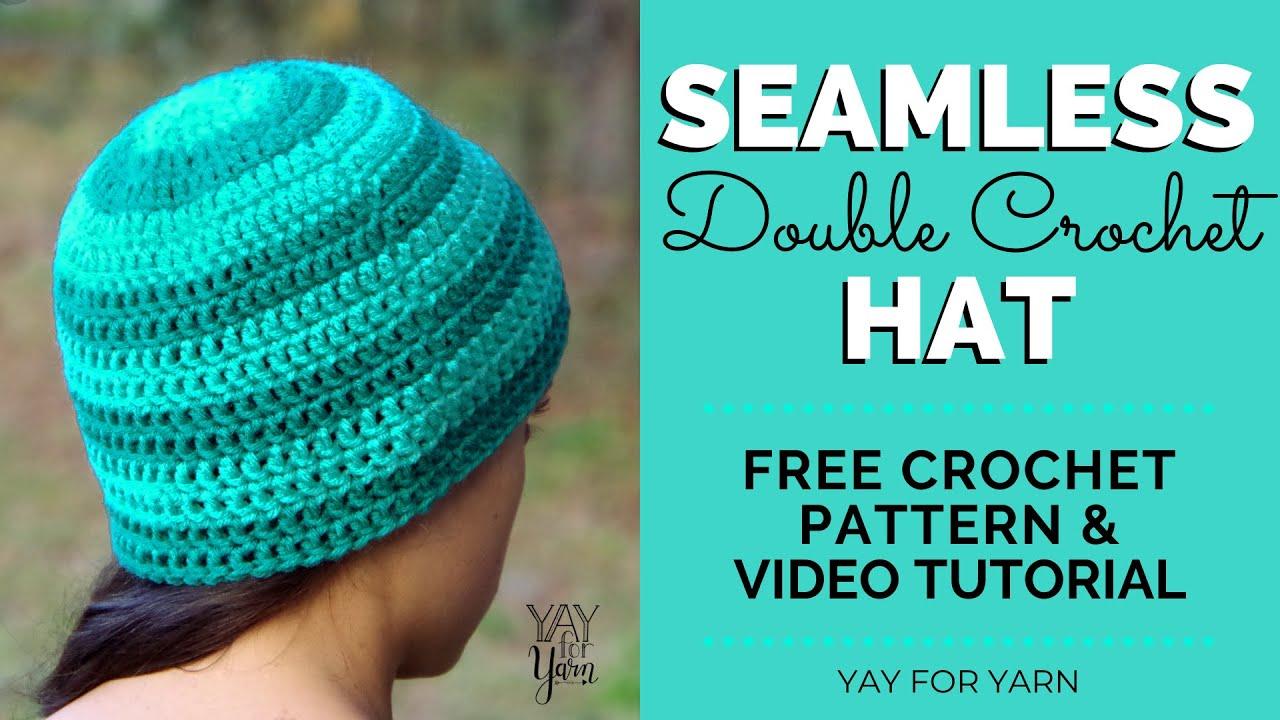 How to Crochet a Seamless Double Crochet Hat 3a57d9bb2f1