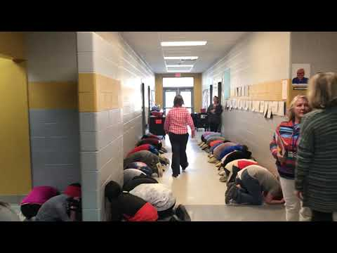 Students at Mills River Elementary School participated in a tornado drill