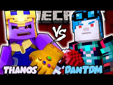 ADMIN DanTDM VS THANOS!! - [Minecraft Animation]