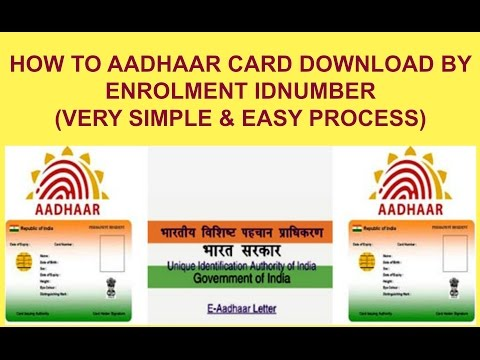 How To Download Aadhar Card With Enrolment Number