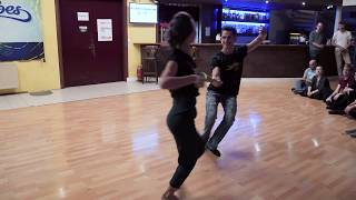West Coast Swing Dance┃ Pavel Katunin&Marina Motronenko - Pro Intro@SwingVibes Bratislava 2019
