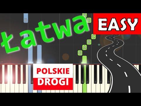 🎹 Polskie drogi (A. Kurylewicz) - Piano Tutorial (łatwa wersja) 🎹