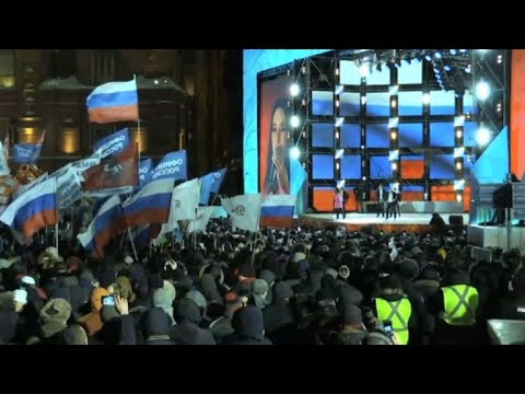 Celebrations begin near Red Square for Putin election victory