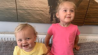 CUTE SISTERS love to dance to 'The LaBrant Fam' youtube channel intro. Funny dancing