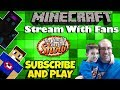 🔴Minecraft With Fans 💎⛏️Java & Pocket Edition Servers!