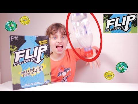 Water Bottle Flip Challenge LE JEU DE SOCIETE • Hasbro Gaming - Studio Bubble Tea unboxing
