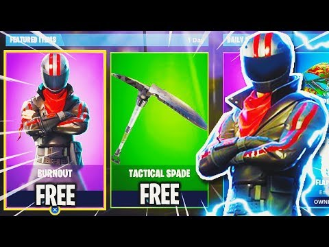 New Fortnite Skins How To Get Free Skin Burnout Fortnite Battle