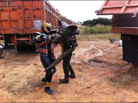 BEHIND THE SCENE SATRIA GARUDA BIMA X VS PROTEUS Monster Komodo FULL SOUND EFFECT GAME #12