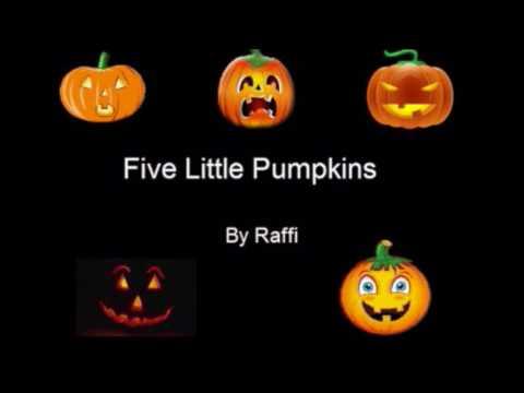 Five Little Pumpkins wLyrics Raffi