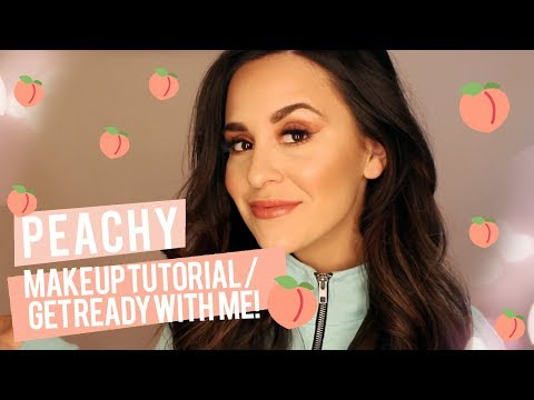 GET READY WITH ME | PEACHY MAKEUP TUTORIAL!