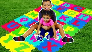ABC Alphabet Phonics Nursery Rhymes Songs for Kids with Leah and Anwar