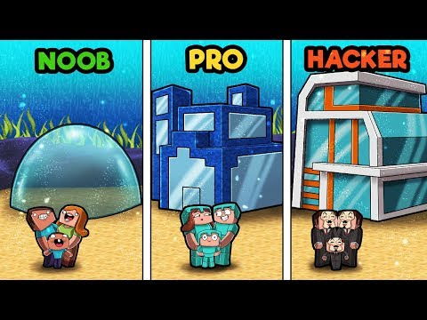minecraft---family-house-underwater!-(noob-vs-pro-vs-hacker)