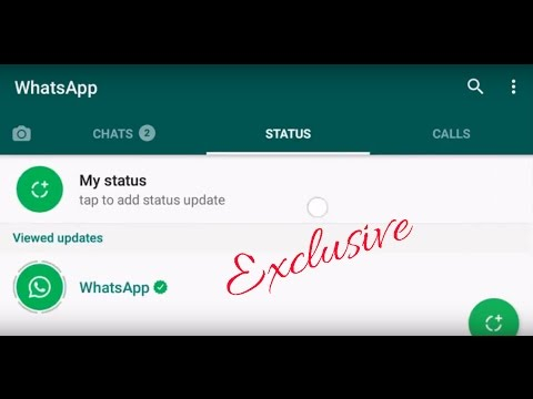 WhatsApp new status feature- Here is How to post status and delete them! FEB 24,2017