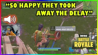 NINJA IS REALLY HAPPY SNIPER DELAY IS GONE!!! - Fortnite highlights #194
