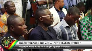 Encounter with the Media: President Akufo-Addo on the fight against corruption