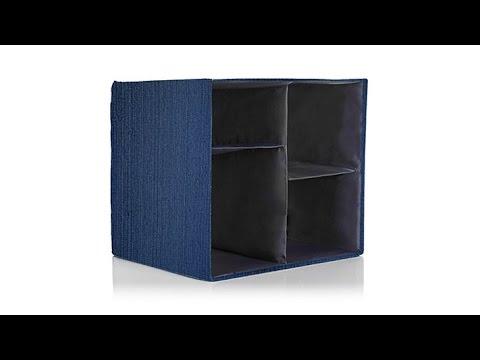 1a4aedc35260 JOY Collapsible Chic OrganizeItAll Storage Cube - YouTube