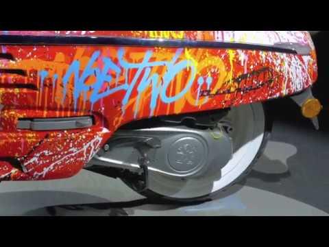 Peugeot DJANGO customisé par le street artist Noe Two
