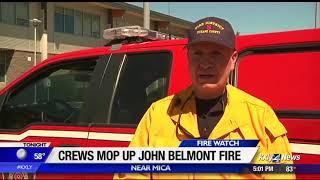 Crews offer update on Belmont Fire