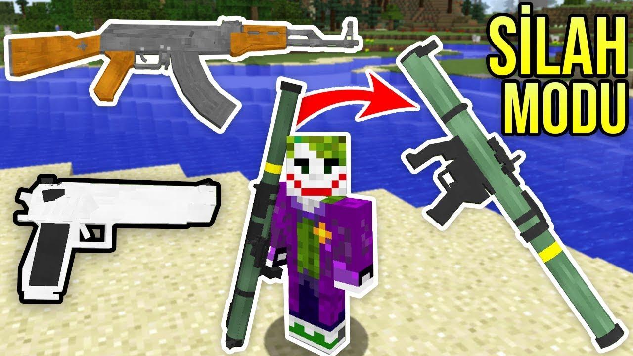 Minecraft SİLAH MODU (Otomatik Silah,Sniper,Bazuka) - Modern Savaş Modu