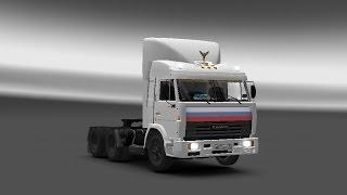 Euro Truck Simulator 2 (Обзор мода КамАЗ 54115 из сериала Дальнобойщики)