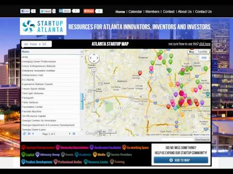 StartUp Atlanta Map - How To Use