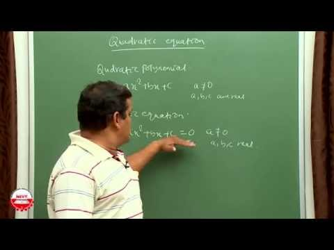 Class 10 Maths- Quadratic Equations- CBSE (BY NEVT)
