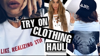 Huge TRY ON Clothing HAUL - The Kylie Shop, Wearall, Missguided + more