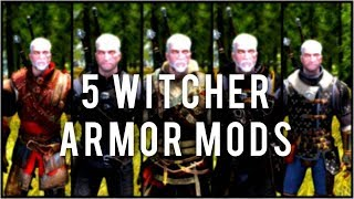 Skyrim Special Edition: ◼️5 WITCHER ARMOR MODS ◼️ | Killerkev