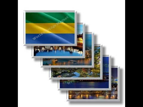 GA - Travels in GABON - rectangular magnets and souvenirs