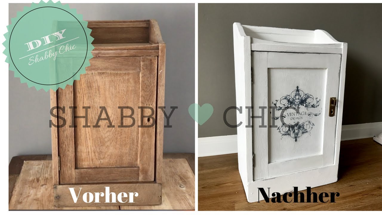 diy schrank im shabby chic streichen vintage look shabby chic selber machen youtube. Black Bedroom Furniture Sets. Home Design Ideas