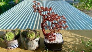 [Bonsai Handmade]How To Make Mini Bonsai Tree Wire Copper 06