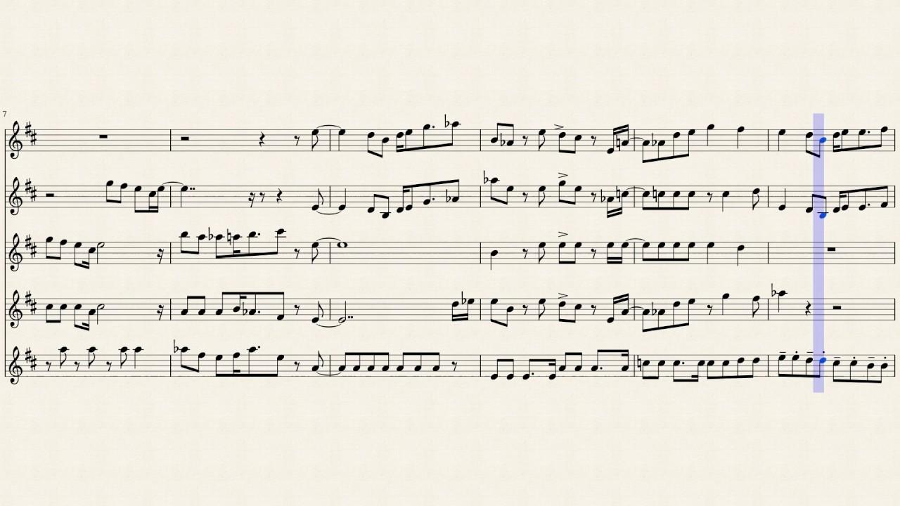 Mii Channel Trumpet Sheet Music