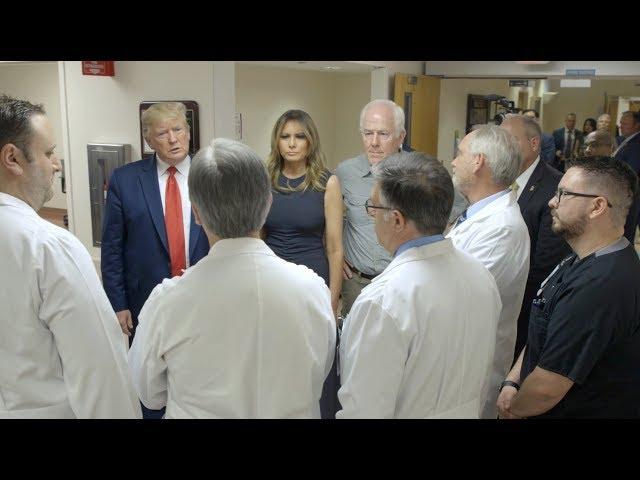 President Trump and First Lady Melania Trump Visits El Paso Texas
