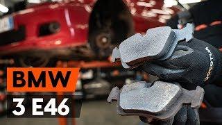 Vgradnja spredaj in zadaj Zavorne Ploščice BMW 3 SERIES: video priročniki