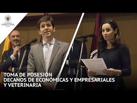 Toma De Posesión De Los Decanos De Las Facultades De Económicas Y Empresariales, Y De Veterinaria