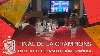 Así se está viendo la final de la Champions en el hotel de la Selección española