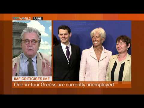 Money Talks: IMF Criticises IMF, interview with Leonidas Chrysanthopoulos and Craig Copetas