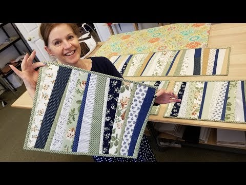 Quilt As You Go Placemats From a Jelly Roll!