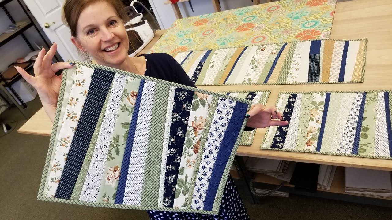 Quilt As You Go Placemats From A Jelly Roll Youtube