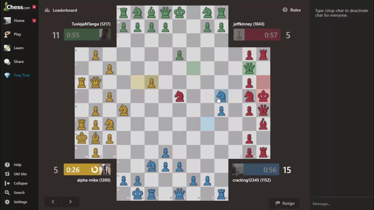 """Chess online: Hướng dẫn chơi CỜ 4 NGƯỜI vô cùng """"Ảo diệu"""" (4 chess players)"""