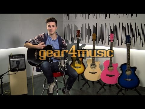 Single Cutaway Electro Acoustic Guitar + 15W Amp Pack