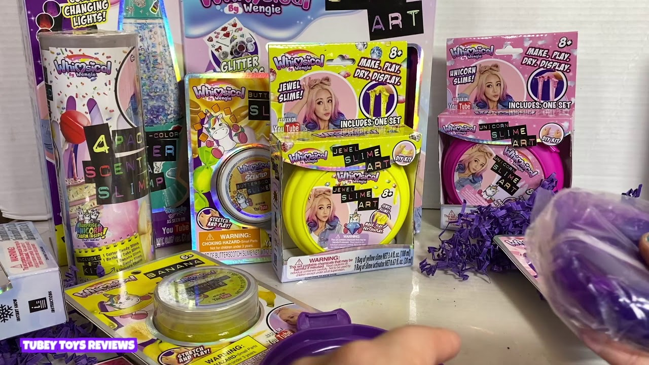 Whimsical By Wengie Diy Slime Kit Best Scented Slime Ever Giveaway Tubey Toys Youtube