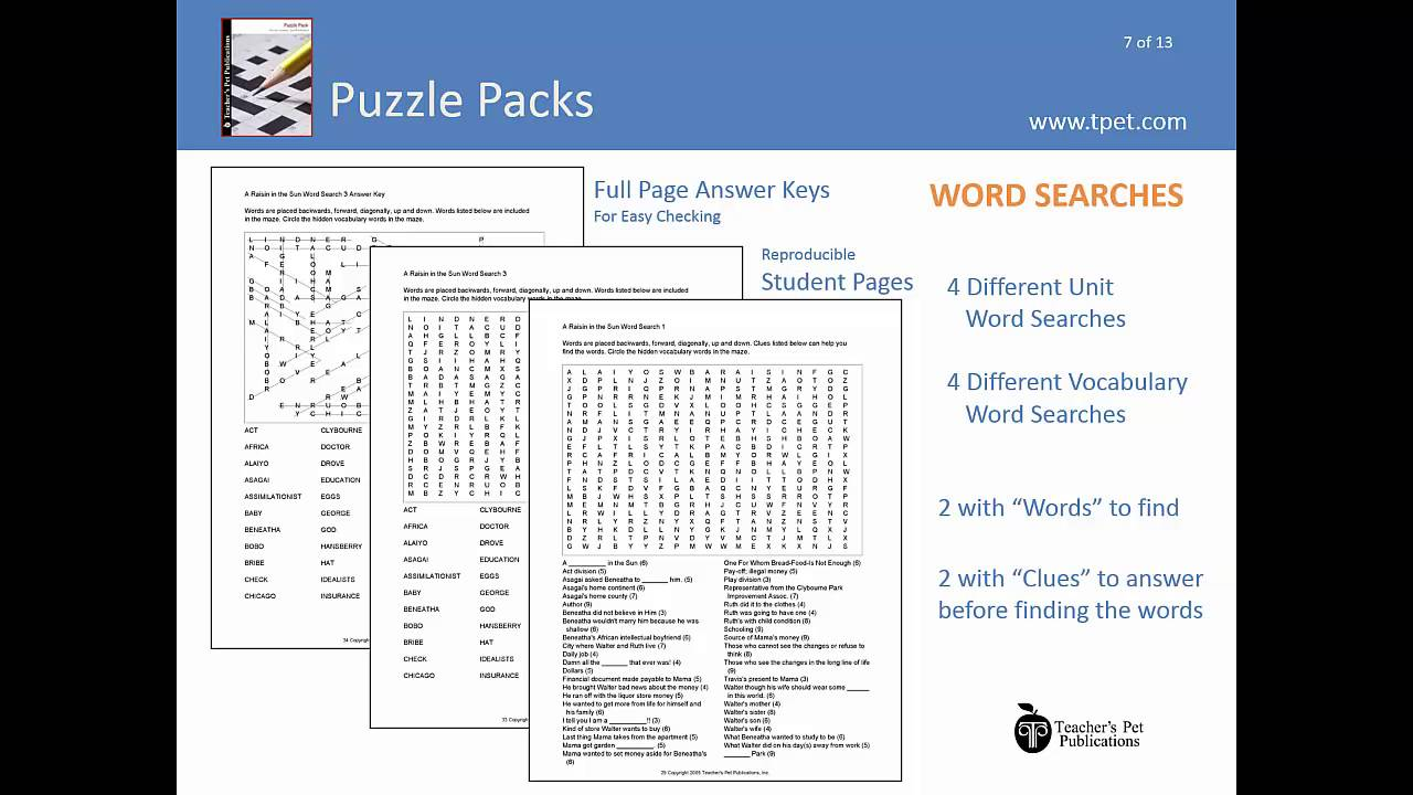 Literature Puzzle Packs: Puzzles, Worksheets & Games for Teaching ...