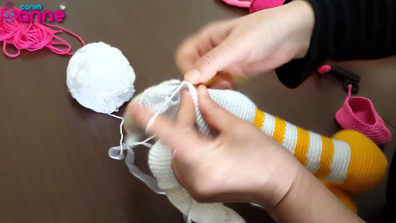 Amigurumi Bebek Gövdesi : Bebek kolların gövdeye eklenişi Örgü oyuncak amigurumi canım