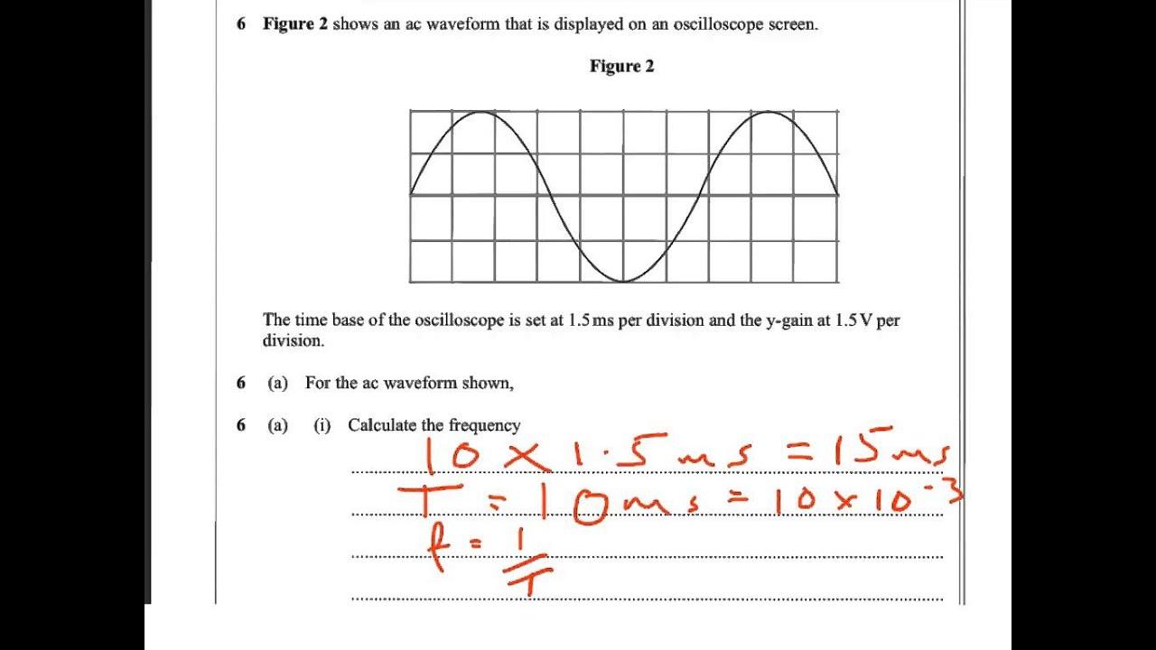 oscilloscope past paper q2 timebase