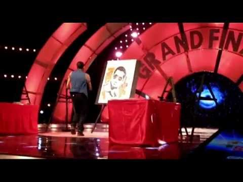 Dhaval Khatri Dabangg style perform as his favorite actor Salman Khan live painting perform