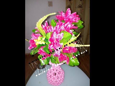Beaded Flower Vase Uje Noble Design Youtube
